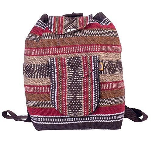 4. PINZON ESCOLAR Bolso Grande Estilo Hippie - Una mochila hippie con múltiples usos