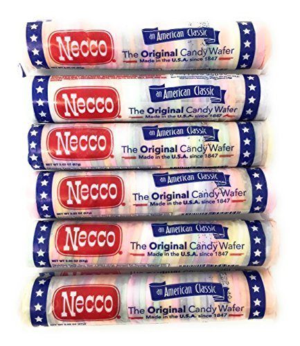 Necco Wafers Original Assorted Candy Rolls (Set of 6) by Assorted Candy