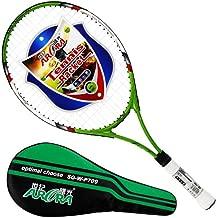 Adult Carbon Fiber Tennis Racket,Light Weight Tennis Racquets,Include Tennis Bag,Green