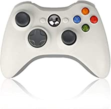 Sollop Wireless Controller Gamepad for Windows & Xbox 360 Built-in Dual Vibration Support PC with 2.4Ghz Wireless Connection Technology (White)