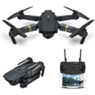 Quadcopter Drone With Camera Live Video, EACHINE E58 WiFi FPV Quadcopter with 120° Wide-Angle...