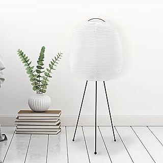 Lampadaire trépied 1 x E27 max. 40 W Métal/papier de riz, blanc/noir