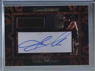 Khal Drogo; Jason Momoa (Trading Card) 2017 Rittenhouse Game of Thrones: Valyrian Steel - Autographed Costume Relics #KHDR