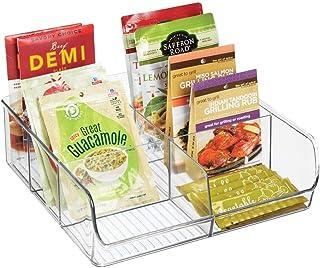 mDesign Aufbewahrungsbox – stapelbarer Kasten mit sechs Fächern zur Lebensmittelaufbewahrung – moderner Küchen Organizer f...