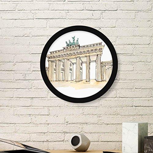 DIYthinker Brandenburg Deur In Oost-Duitsland Ronde fotolijst Kunstdrukken Van Schilderijen Thuis Muursticker Gift