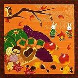[キステ] 風呂敷 ふろしき 四季彩布 12ヶ月の季節柄 綿100% 50cm 小風呂敷 タペストリー (収穫祭)