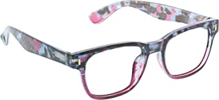 Peepers by PeeperSpecs Women's Relic Square Blue Light Filtering Reading Glasses, Pink Quartz, 49.9 mm + 3