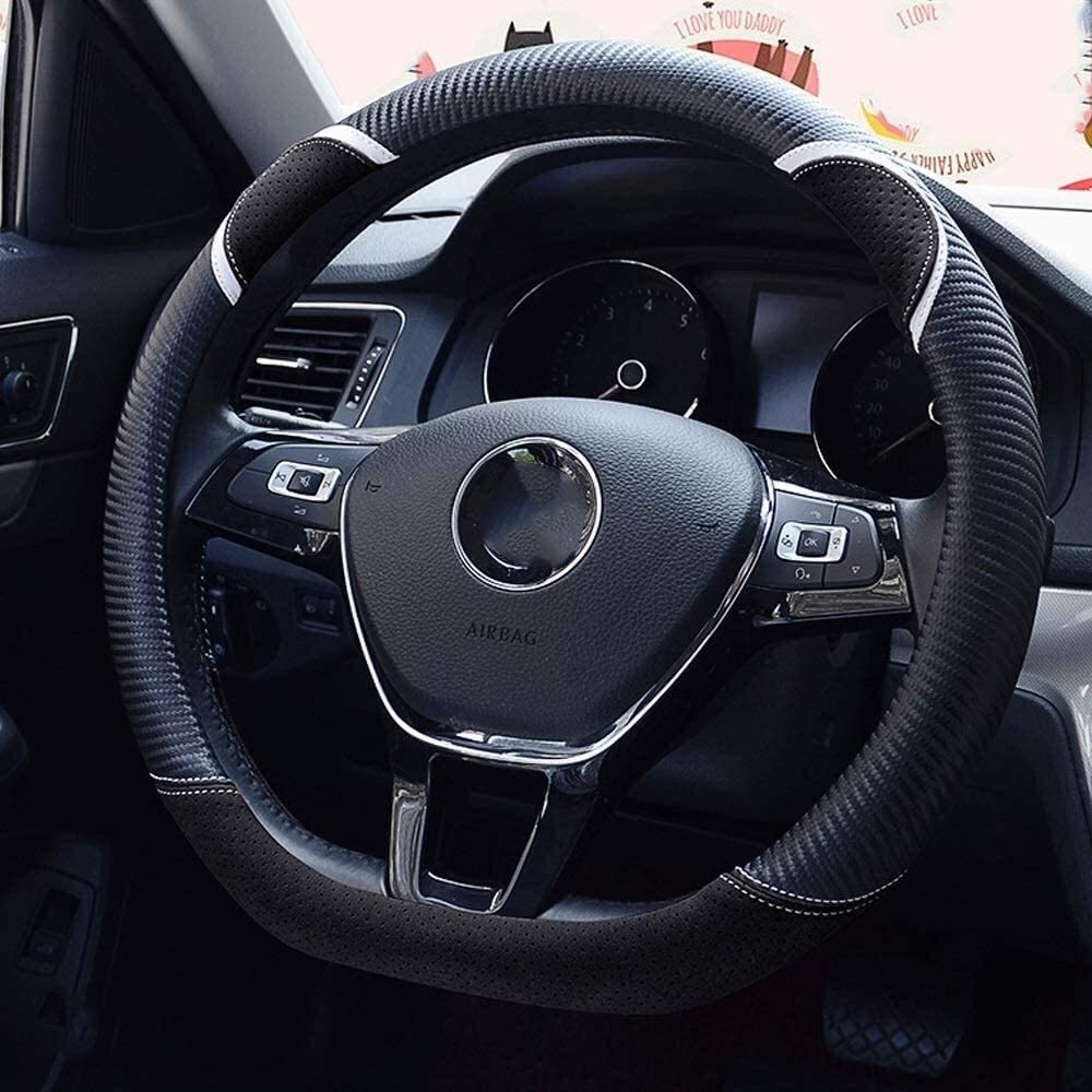 Max 42% OFF Directly managed store JYMBK Steering wheel cover covers D-shaped Leathe