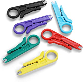BUSHIBU Mini Wire Stripper 6 Pack Network Wire Stripper Punch Down Cutter for Network Wire Cable, RJ45/Cat5/CAT-6 Data Cable, Telephone Cable and Computer UTP Cable