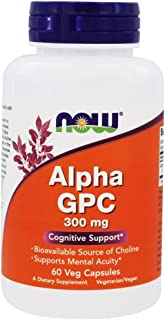 NOW Foods - Alpha GPC 300 mg. - 60 Vegetable Capsule(s)