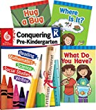 Conquering Pre-Kindergarten, 4-Book Set – Fun Practice Workbook and 3 Learn-to-Read Phonics Books for kids ages 3-4 to Prepare for Pre-K (Learn-at-home)