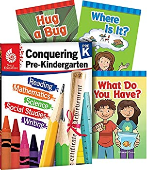 Conquering Pre-Kindergarten 4-Book Set – Fun Practice Workbook and 3 Learn-to-Read Phonics Books for kids ages 3-4 to Prepare for Pre-K  Learn-at-home