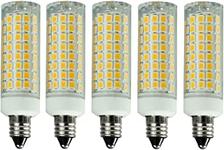 [5-Pack] E11 led Bulb Dimmable 75W 100W Equivalent Halogen Replacement Lights, Mini Candelabra Base, 850 Lumens, Warm White 3000K,AC110V/ 120V/ 130V, Replaces T4 /T3 JD e11 Light Bulb