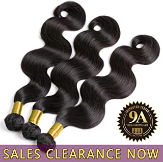 9A Brazilian Virgin Human Hair 3 Bundles Body Wave Cheap Peruvian Remy Wavy Hair extensions Products Best Indian Unprocessed Hair Weave Natural Black Color Real 100% Malaysian Hair Weft 12 14 16 Inch