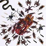 Neusky 160 Stücke Pflastik-Tierchen, Spinnen, Maden und Fliegen für Halloween, Karneval, Fastnacht, Fasching oder Thema Festival, Party und Dekoration (Halloween, 160Stück) - 5