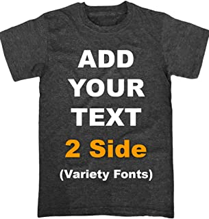 Custom T Shirts Front & Back Add Your Text Ultra Soft for Men & Women Cotton T Shirt