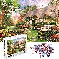 ジグソーパズル 1000ピース 大人用 Aqziill 秋のパズル 春の風景 花 Lサイズ 27.55インチ x 19.6インチ 厚紙 中程度の難易度 ギフトに