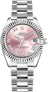 Rolex Datejust 31 Pink Roman Numeral Dial Oyster Bracelet Ladies Watch Ref. 178274