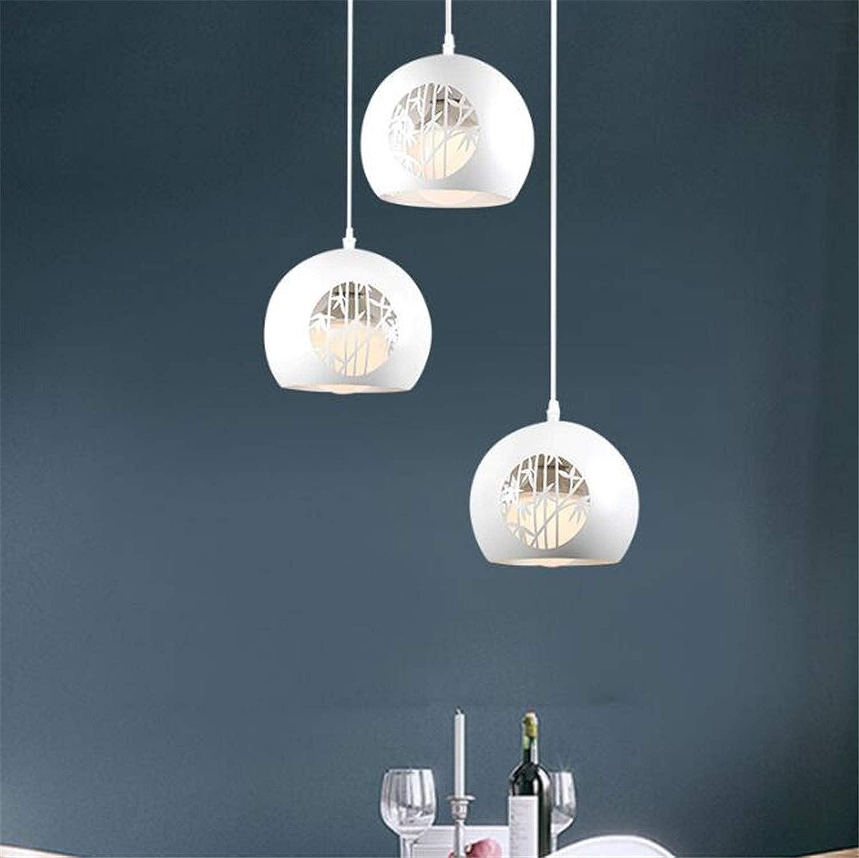 ELEGENCE-Z Hngeleuchte,E27 Moderne Elegante Runde Metall Klassische 3 Lichter Pendelleuchte Wohnzimmer Schlafzimmer Dekorative Lichter Wei