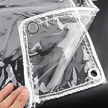 Dekzeilen Dekzeil Transparant Dekzeil - Waterdicht PVC Kunststof Zeildoek Met Oogjes, Bloemen-Plant Blad Bedekt Regendicht...