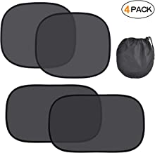 Kuyang Car Window Shade, 4 Pack Car Sun Shade(2 Sizes), 80 GSM with 15s Film for Full UV Protection-2 Pack 20