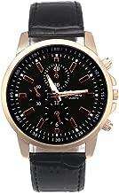 Watch!!! Daoroka Mens Belt Watch Geneva Leather Analog Dial Quartz Sport Wrist Watch Jewelry Gift