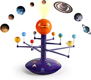 Science Can Solar System Model Kit with 8 Painted Planets, Planetarium Projector, an Exploration of Planets, Stem Toys Gift for Kids & Teens, Girls & Boys