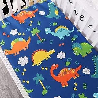 Bassinet Pad Cover 130X70X5Cm Baby Kids Bed Sheet Crib Mattress Cover Bedding Set Cartoon Parteen for Girls Boys Dinosaur - Cosleeper Sheets Fitted - Newborn Cradle Bedding Set