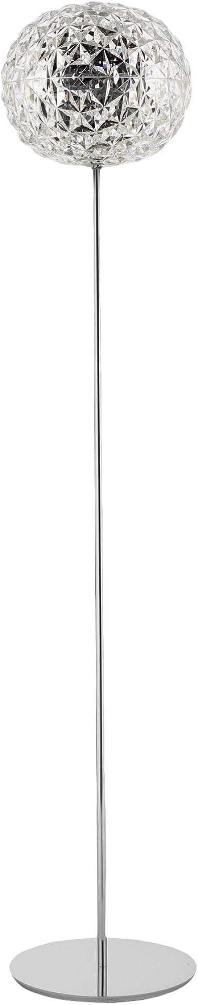 Kartell planet ,lampada da terra, h. 160 cm, dimmerabile, trasparente,in tecnopolimero termoplastico colorato 09388B4