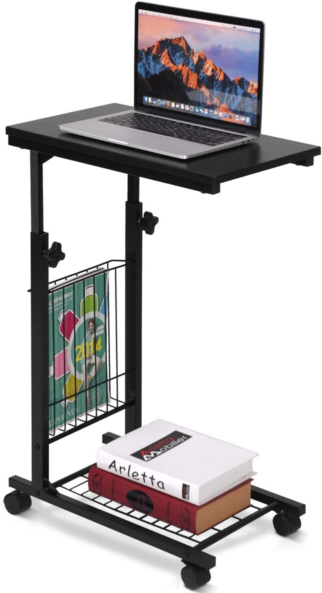 HOMGX Mobile Side Table excellence Industrial Portland Mall wit Adjustable Sofa End