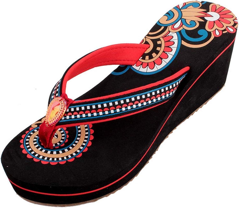 Thongs Sandals Fashion Women Anti-Slip Slipper Indoor Outdoor Flip-Flops Wedge Platform