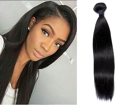 Vkhair 12 30cm 1 Bundle 100g Brésilien Vierge Remy Tissage Naturelle Lisse 100 Naturel Humain Cheveux Mèches Noir Amazon Fr Beauté Et Parfum