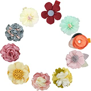 Baby Girl Hair Bows Set Floral Printting Bow Headbands Clip Alligator Hair Clips for Toddlers Kids (Multicolor-Hair Clips 24)