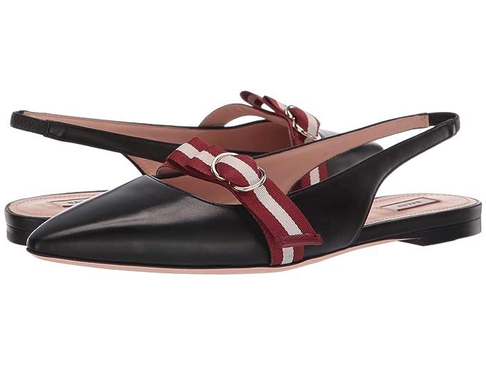 Bally  Ali Flat (Black) Womens Flat Shoes