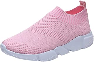 UOKNICE Women Outdoor Mesh Shoes Casual Slip On Comfortable Soles Gym Sneaker Running Sports Shoes