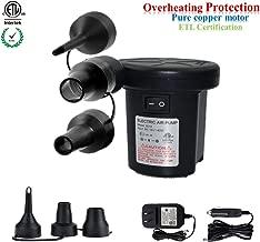 Electric Air Pump Inflate/Deflate ETL AC 110~120V/DC 12V Quick-Fill Swimming Pools Air..