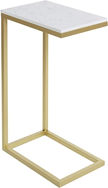 Silverwood CPFT1509GE Side Table Gold And Faux Marble