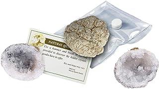 Break Your Own Geode Natural Quartz Crystal Unique Stone Rock Science Set of 3