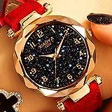 Moda Relojes de Las Mujeres de la Estrella del Cielo Dial Cuarzo Relojes de Pulsera Pulsera de Reloj de Lujo RoseWomen