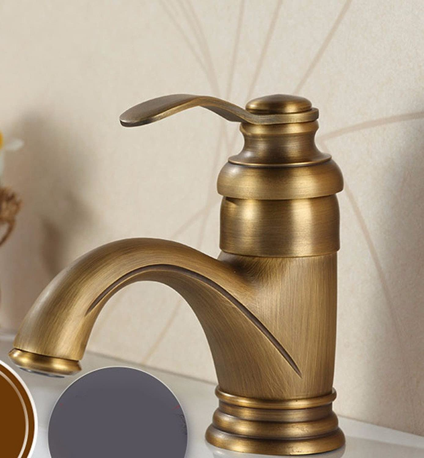 Hlluya Professional Sink Mixer Tap Kitchen Faucet Copper, hot and cold, bathroom, Single Hole basin, sink and faucet