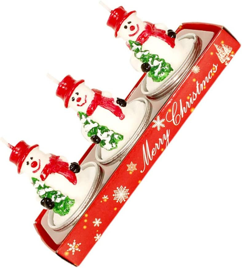 Atlanta Mall ULTNICE 3pcs Christmas Tealight Pinecone Handmade Candles 5 ☆ very popular Santa