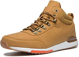 FITONE Men's Work Boots Outdoor Ankle Sneakers Casual Soft-Toe Shoes (12, Yellow)