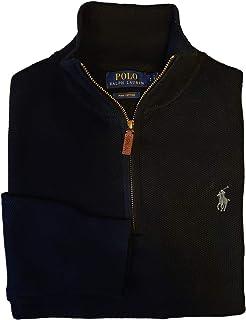 Polo RL Men's Waffle Knit Half Zip Sweatshirt