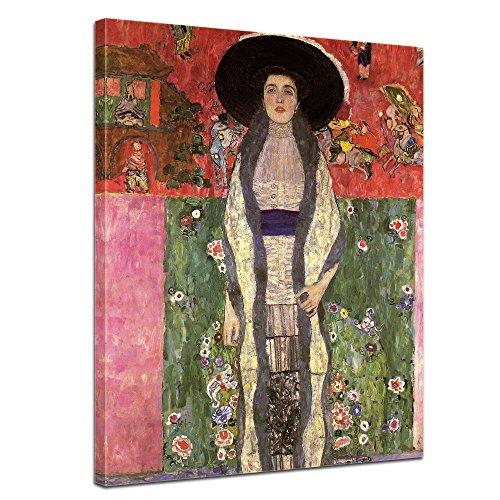 Wandbild Gustav Klimt Portrait der Adele Bloch-Bauer - 40x50cm hochkant - Alte Meister Berühmte Gemälde Leinwandbild Kunstdruck Bild auf Leinwand