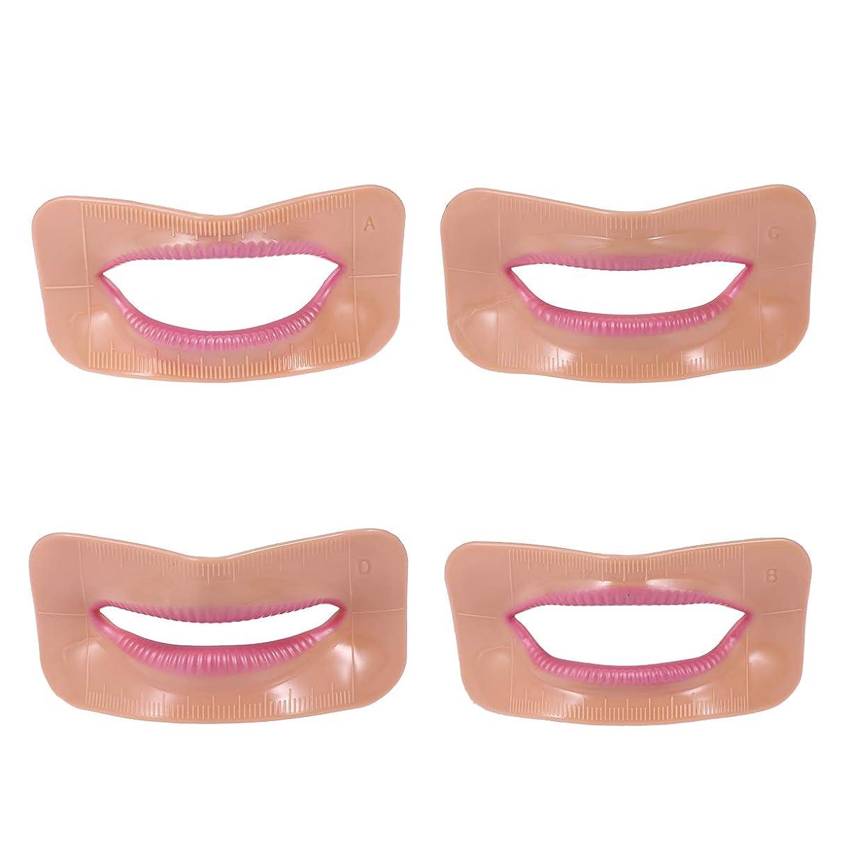 外交通知する突撃Healifty デンタルケアキット4本歯の歯の位置合わせの確認測定リップ口測定ツール歯科用アクセサリー