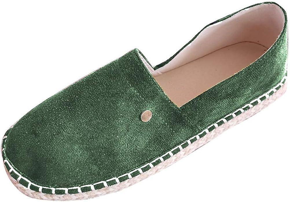ORANDESIGNE Femme Espadrilles Classique Toile /à Enfiler Espadrilles D/écontract/ée Plat Loafers Chaussures Mode Confort Espadrilles