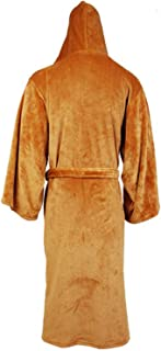 Flannel Robe Male with Hooded Thick Star Wars Dressing Gown Men's Bathrobe Winter Long Robe Mens Bath Robe