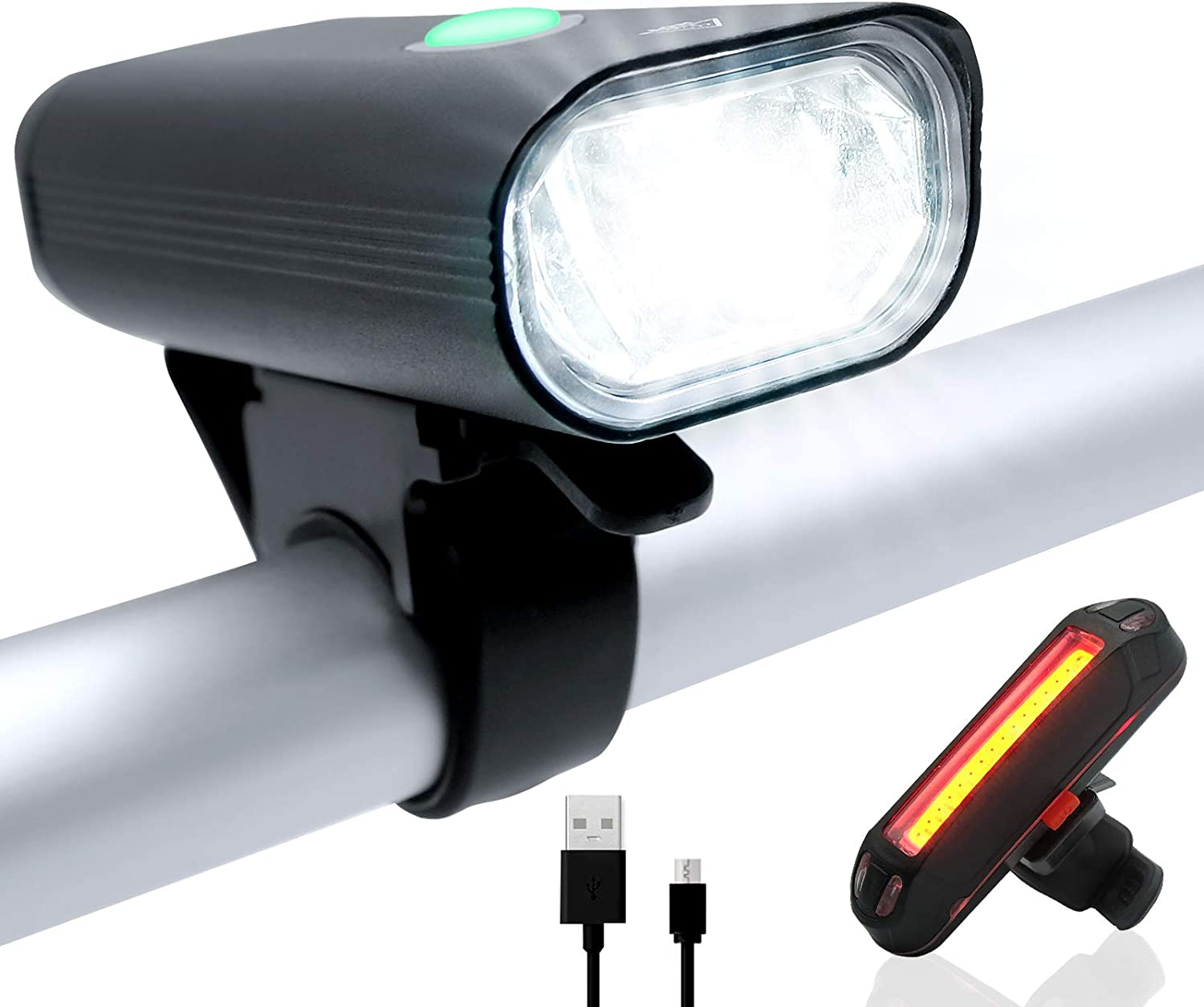 WILNARA 2021 new Bike Lights Set Gorgeous Bicycle Recharge Front Tail USB