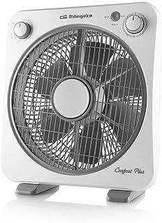 Orbegozo BF 0138 - Ventilador de suelo con 6 aspas, rejilla de protección giratoria bidireccional, 3 velocidades de ventilación, difusor rotativo, temporizador de 60 minutos, 40 W de pote.
