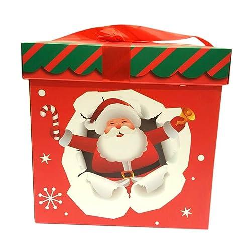 KRAFTZ® - Christmas Santa Gift Hamper Merry Xmas Party Filler / Favor Box for Decoration